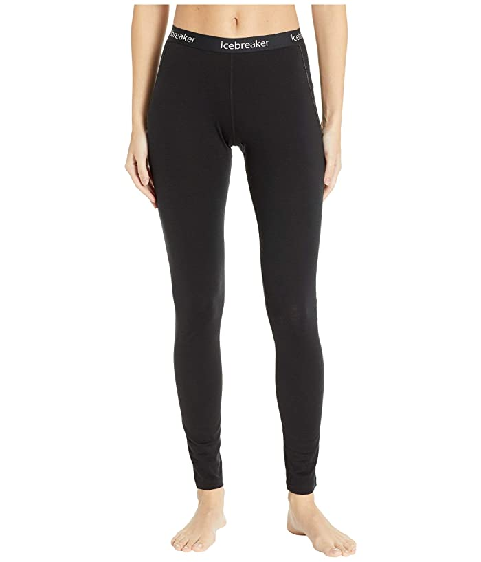 Icebreaker 150 Zone Merino Base Layer Leggings (Black/Mineral) Women