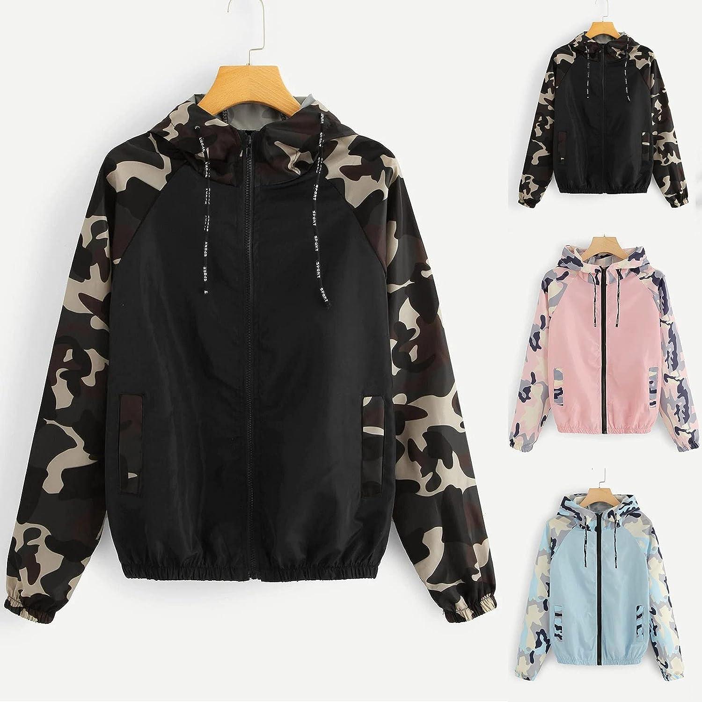 Women's Casual Zipper V Neck Long Sleeve Loose Soft Tops Tunic Blouse Coat Raincoat