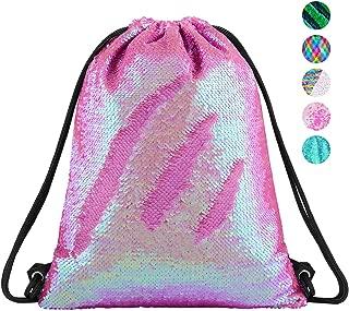 Sequin Mermaid Drawstring Bag Reversible Sequin Dance Bag for Girls Kids