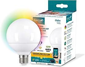 Garza Smarthom-lamp, LED, WiFi, CCT + RGB, 12 W, E27, intelligent en programmeerbaar, dimbaar + kleurwisseling, spraakbest...
