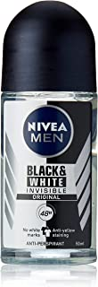 NIVEA MEN Invisible Black And White Roll On Antiperspirant Deodorant 50ml