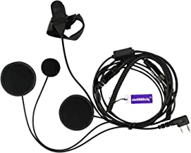 abcGoodefg Full Face Moto Motorcycle Bike Helmet Earpiece Headset Mic Microphone for Kenwood Two Way Radio Walkie Talkie Lt-2288 Lt-3107 Lt-3188 Lt-3260 Lt-3268 TK-3230 TK-340 TK3230K TK3230