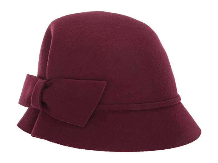 1920s Style Hats Betmar Dixie Dark Plum Caps $47.99 AT vintagedancer.com