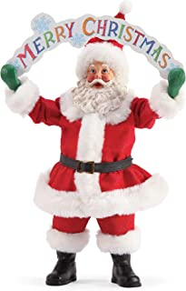 Department 56 Possible Dreams Santas Merry Christmas Figurine, 12