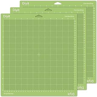 Diyit 12x12 Cutting Mat Standard Grip for Cricut Maker/Explore Air 2/Air/One, 3 Pieces Green Cutting Mat for Crafts
