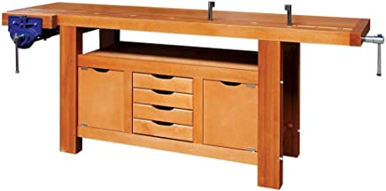 1 tiroir et 1 presse Beige Outifrance 0017150 Etabli bois professionnel 1,50 m avec 1 rayon interm/édiaire