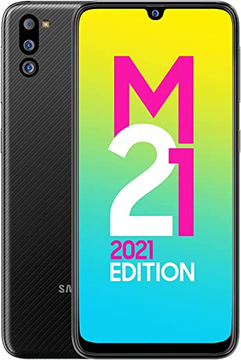 Samsung Galaxy M21 2021 Edition (Charcoal Black , 4GB RAM, 64GB Storage) | FHD+ sAMOLED | 6 Months Free Screen Replacement for Prime 1