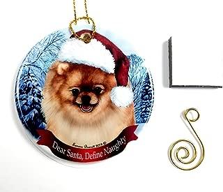 Imprints Plus Pomeranian- Fawn Christmas Ornament 3