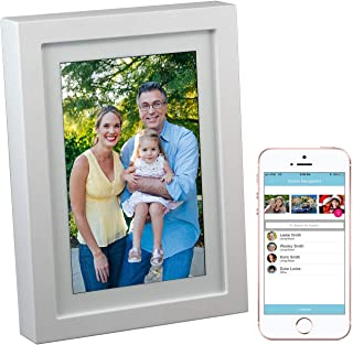 PhotoSpring 8 (16GB) 8-inch WiFi Cloud Digital Picture Frame - Battery, Touch-Screen, Plays Video and Photo Slideshows, HD...