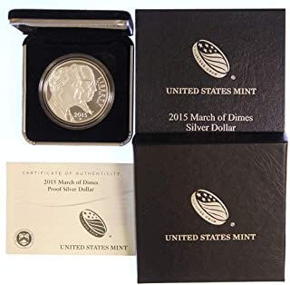 2015 march of dimes proof silver dollar