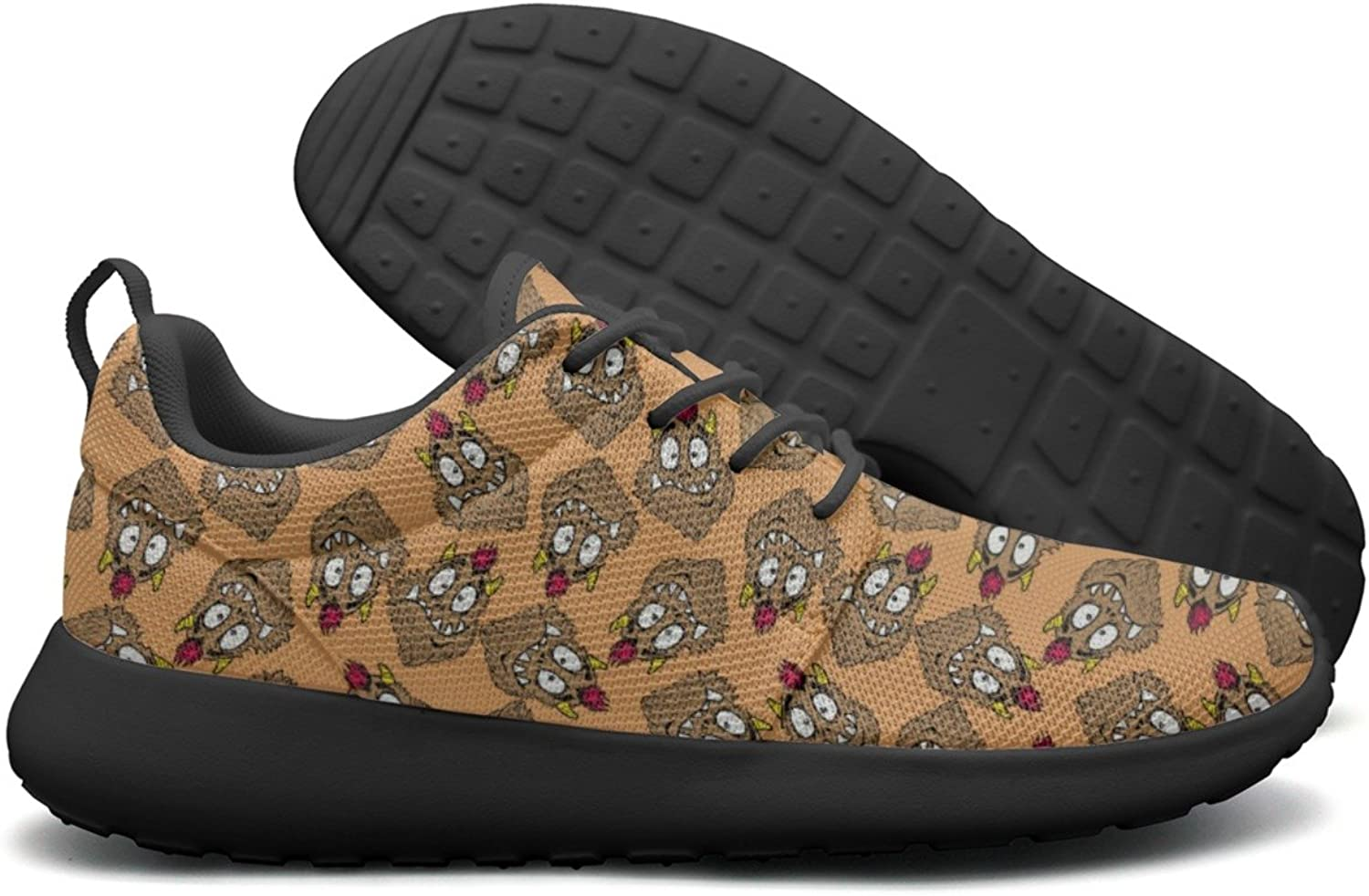 Funny Looking Monster Womans Net Casual Running shoes Funny colorful