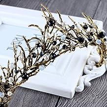 Tiara, corona vintage para boda de princesa, para mujeres, para bailes o bodas, de Jovono.