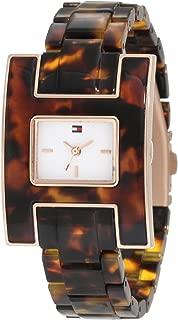 Tommy Hilfiger Women's 1781166 Fashion Tortoise H Inspired Logo Case Watch