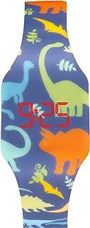 KIDDUS Digital LED Montre pour Filles, Garçons, Ados. Bracelet en Silicone. Batterie Japonaise de Longue Durée Remplaçable...