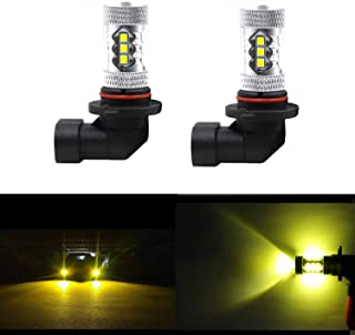 Dantoo 2 x 9006 LED Fog Light Bulbs HB4 LED Bulbs Extremely Bright 3000K 16 SMD Fog Light Lamp Replacement for DRL or Fog Lights, Gold Yellow