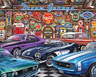 Springbok Puzzles - Dream Garage - 1000 Piece Jigsaw Puzzle - Large 24 Inches by 30 Inches Puzzle - Made in USA - Unique C...