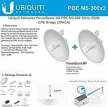 Ubiquiti PowerBeam M5 PBE-M5-300 US 2 Units 5GHz 300mm 22dBi 802.11n Outdoor High-Performance airMAX Bridge CPE Wireless