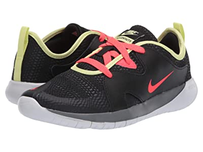 Nike Kids Flex Contact 3 (Big Kid) (Black/Laser Crimson/Smoke Grey/Limelight) Kids Shoes