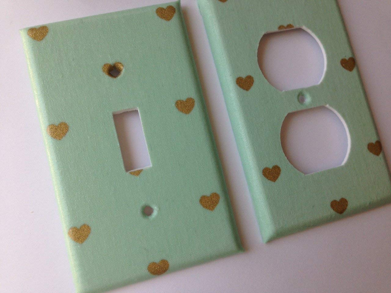 Mint Max 43% OFF And Our shop OFFers the best service Metallic Gold Heart Light St Various Switch Cover Plate