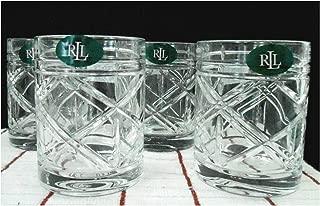 Lauren Ralph Lauren Brogan Crystal Double Old Fashioned Glasses Set of 4