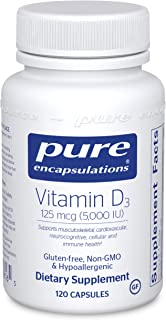 Pure Encapsulations Vitamin D3 125 mcg (5,000 IU) | Supplement to Support Bone, Joint, Breast, Prostate, Heart, Colon and ...