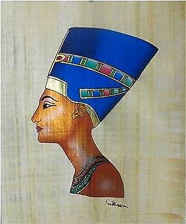 bonballoon Pharaoh Egypt Pharaoh Papyri Queen Nefertiti Original Hand Painted Papyrus 12