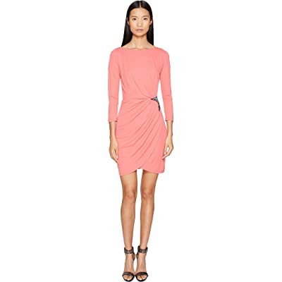 Just Cavalli Long Sleeve Jersey Star Dress (Pop Pink) Women