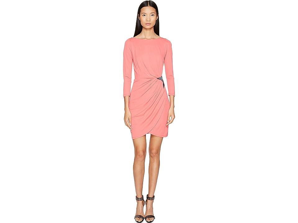 Just Cavalli Long Sleeve Jersey Star Dress (Pop Pink) Women