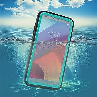 LG G6 Waterproof Case,Underwater Cover Full Body Protective Shockproof Snowproof Dirtproof IP68 Certified Waterproof Case with Kickstand for LG G6-2017 Newest Released-Aqua