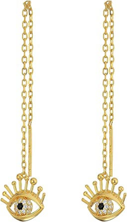 Marc Jacobs - Something Special Evil Eye Single Thread Earrings