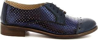 LEONARDO SHOES Luxury Fashion Womens 4641ROKBLUE Blue Lace-Up Shoes   Season Permanent