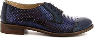 LEONARDO SHOES Luxury Fashion Womens 4641ROKBLUE Blue Lace-Up Shoes | Season Permanent