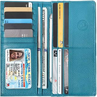 Women's RFID Leather Wallet– Slim Italian Leather Clutch Ladies Purse