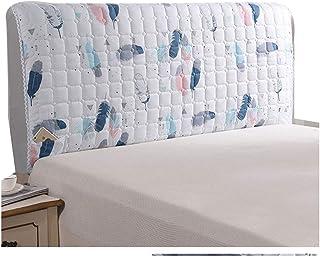 ZWDM AlgodónCabecer Cover Funda For Cabeceros Cama Tela Lado LaCama Cubierta Prueba Polvo Lavable For La Decoración del Dormitorio (Color : D, Size : 190x60x30cm)
