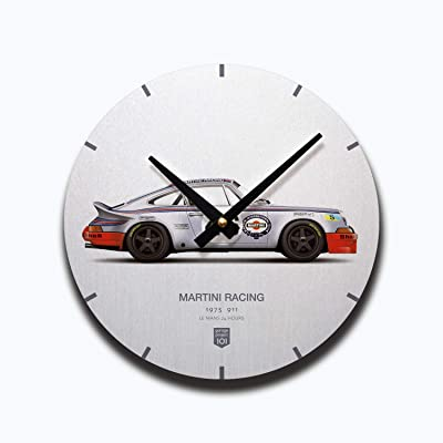 GarageProject101 1973 Martini Racing (Le Mans 24 Hours) Illustration Wall Clock