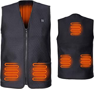 Electric Vest for Men's and Women, Heated Vest Charging Heating Vest… (Black, XXXL(China Size, Similar US XL))