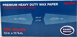 Premium Heavy Duty Wax Paper Sheets | Bulk, Interfolded, Deli Wrap | 12 x 10.75, Case Of 12 Boxes