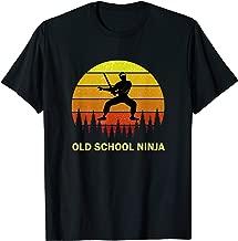 Old School Ninja Karate Martial Arts For Dad Grandpa Teacher T-Shirt