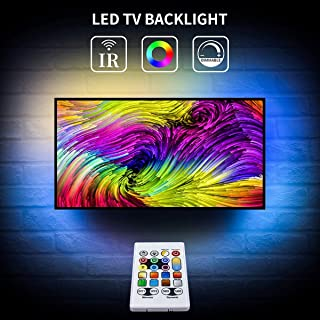 TV Led Lights RGBW Led Strip 8.3ft USB Powered TV Backlight 5050 Bias Light Ambient Lighting with Remote for 42-50in HDTV Mirror Bedroom Kitchen Under Counter Cabinets Bar Party Decor