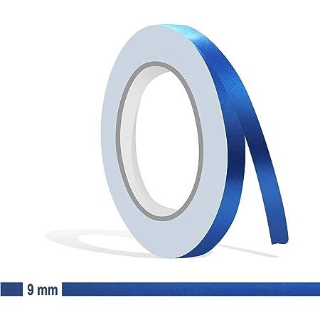 Siviwonder Zierstreifen Blau Metallic Matt In 9 Mm Breite Und 10 M Länge Für Auto Boot Jetski Modellbau Klebeband Aufkleber Folie Dekorstreifen Auto