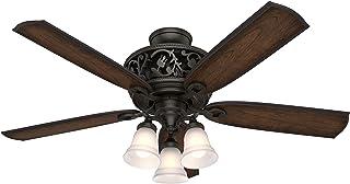 Hunter Fan Company Hunter 59546 Transitional 54``Ceiling Fan from Promenade collection Dark finish, Brittany Bronze