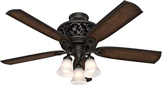 Hunter Indoor Ceiling Fan, with remote control - Promenade 54 inch, Brittany Bronze, 59546