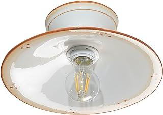 VANNI LAMPADARI - Lampada Da Soffitto Piatto Liscio Diametro 30 In Ceramica Decorata A Mano Disponibile In 5 Finiture