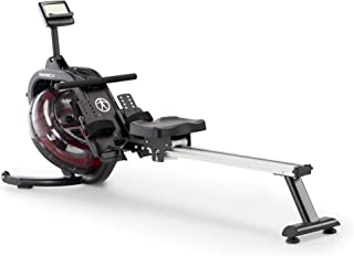 Marcy Water Resistance Rower Rowing Machine for Home Gym LCD Monitor Tracks Time Distance Strokes and Calories NS-6023RW
