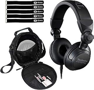 $199 » Technics EAH-DJ1200 Pro On-Ear Wired DJ Headphones Swivel-Mounted w Case Pack