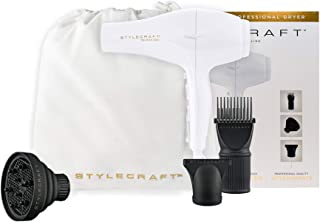 StyleCraft Tri-Plex 3000 Professional Hair Dryer with Diffuser