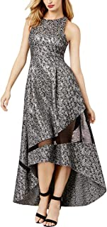 Sachin and Babi Womens Metallic Animal Print Evening Dress