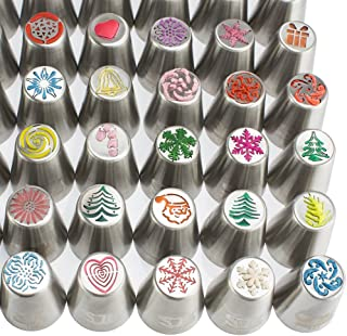 100pc Russian cake tips Special Christmasedition! 70 NEW design numbered stainless steel nozzles,2leaf