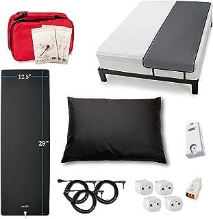 Earthing Starter Kit with Grounding Sleep Mat, Grounding Pillowcase, Grounding Mat, and Grounding Patches, Clint Ober's EA...