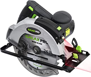 GALAX PRO 1400W 5500RPM Circular Saw, Electric Saw with Laser, Adjustable Cutting Depth and Angle: 46mm (45°) - 62mm (9...